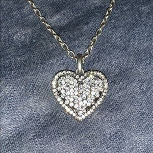 Heart pendant necklace two sided
